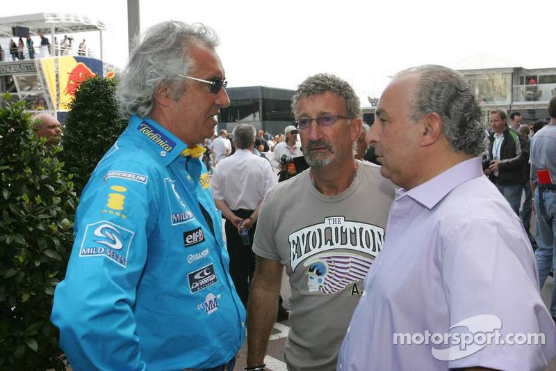 Flavio Briatore, Eddie Jordan y Philip Green