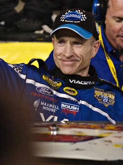 Mark Martin celebrates the All Star Challenge win
