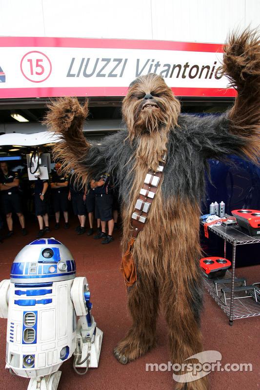 R2-D2 y Chewbacca