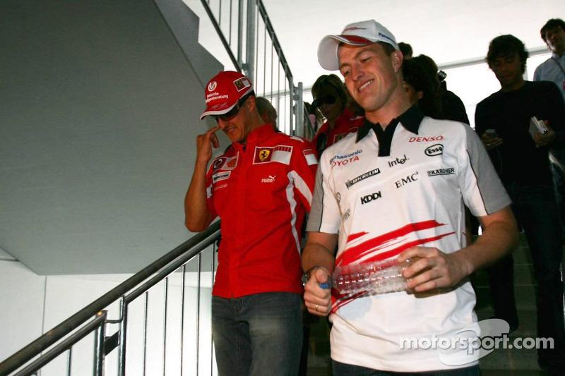 Michael Schumacher y Ralf Schumacher