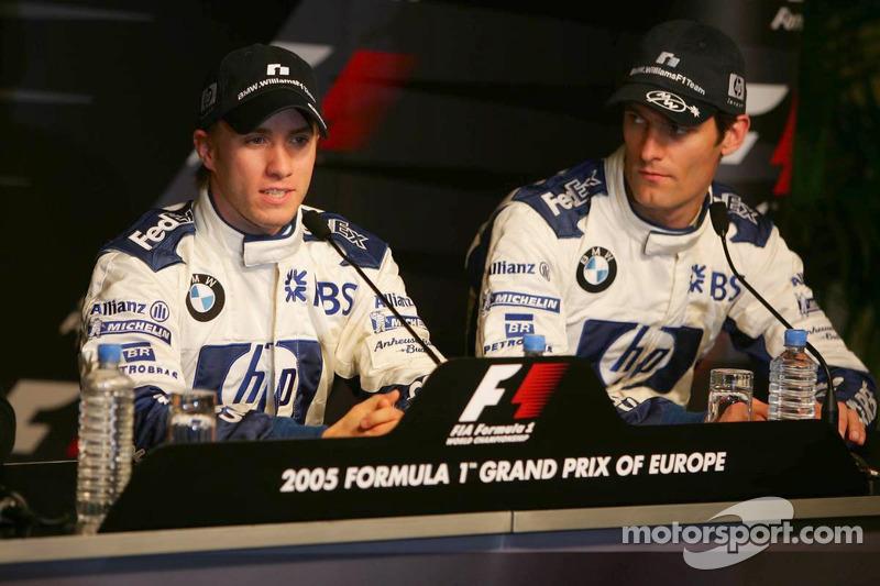 Saturday press conference: pole winner Nick Heidfeld with Mark Webber