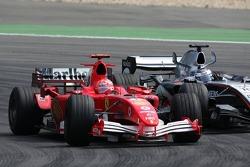 Michael Schumacher and Juan Pablo Montoya