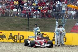 Ralf Schumacher off-track