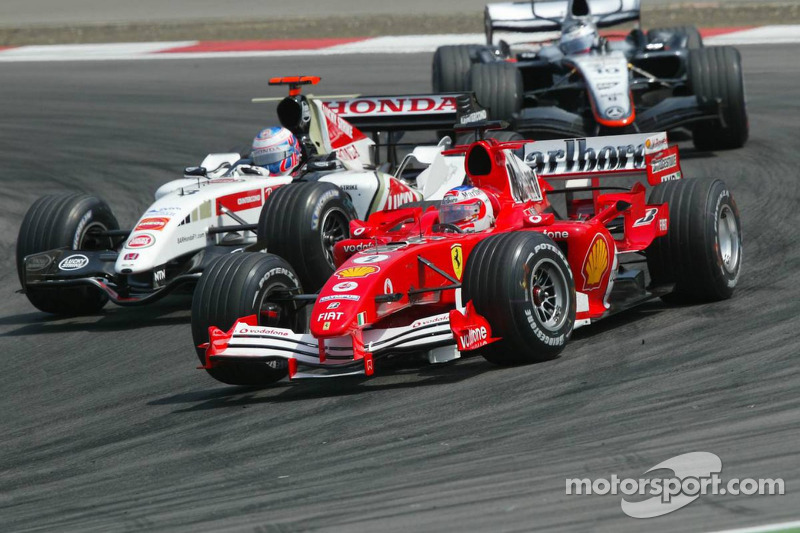 Jenson Button y Rubens Barrichello