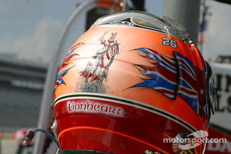 Dan Wheldon's Lionheart helmet