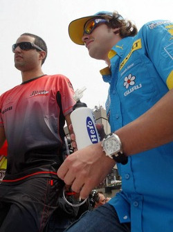 Juan Pablo Montoya and Fernando Alonso