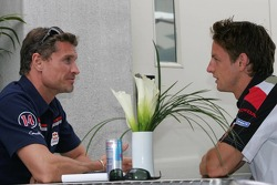 David Coulthard and Jenson Button