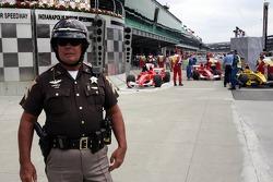 Police in parc fermé