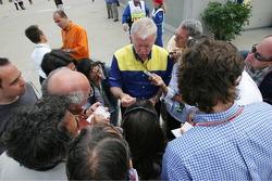 Michelin's Nick Shorrock talks to the media