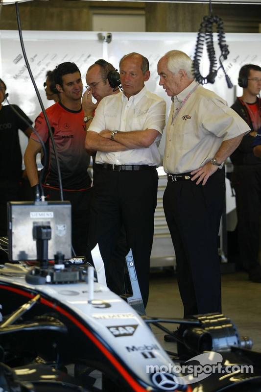 Ron Dennis y Roger Penske