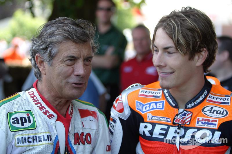 Giacomo Agostini and Nicky Hayden