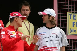 Michael Schumacher and Jarno Trulli