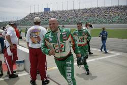 Andretti Green crew members head to victory lane