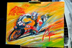 Bill Patterson's schilderij van Nicky Hayden