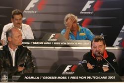 Press conference: Ron Dennis, Paul Stoddart, Dr Mario Theissen and Flavio Briatore