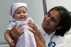 Antonio Pizzonia with his baby