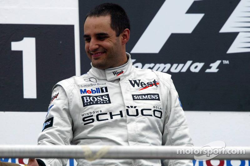 Podio:  segundo lugar Juan Pablo Montoya