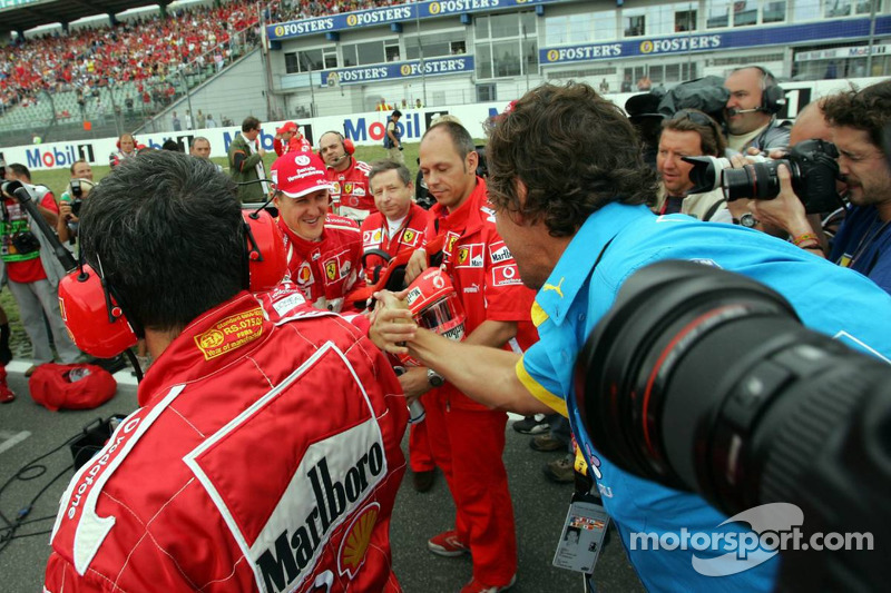 Michael Schumacher y actor Ralf Möller
