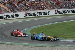 Fernando Alonso and Michael Schumacher