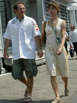 Jacques Villeneuve with girlfriend Ellie Green