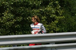 Jarno Trulli stopped on the track