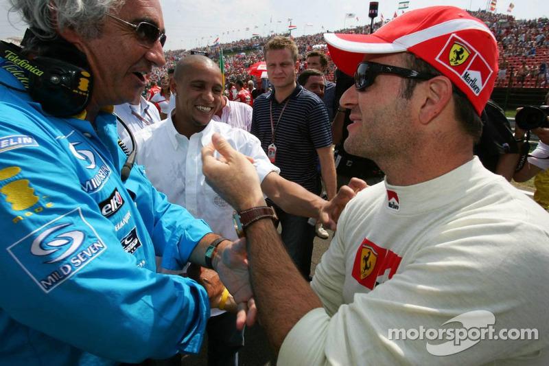 Flavio Briatore y Rubens Barrichello