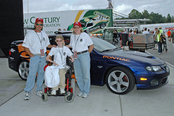 Katherine Shelton and parents with Grand American Pace Car