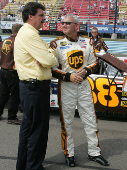 Dale Jarrett with Mike Helton