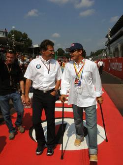 Dr Mario Theissen and Alex Zanardi