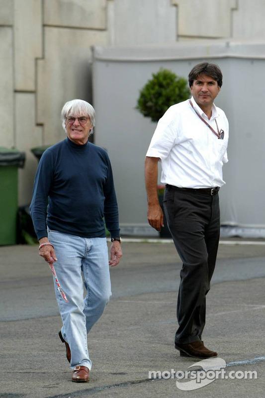 Bernie Ecclestone and Pasquale Lattuneddu