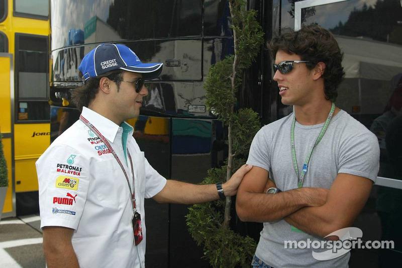 Felipe Massa and Alexandre Negrao