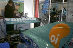 HiTech Piquet Racing garage area