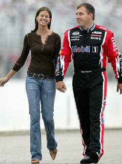 Ryan Newman with wife Krissie