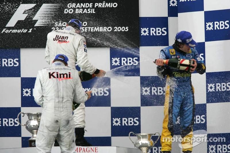 Champagner-Dusche für den neuen Weltmeister