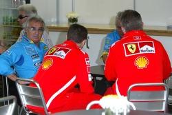 Flavio Briatore, Pat Symonds, Ross Brawn and Stefano Domenicali
