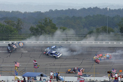 The big one on lap 19 involving Dale Earnhardt Jr., Michael Waltrip, Mark Martin, Elliott Sadler and Mike Skinner
