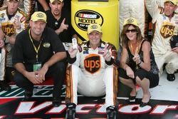 Victory lane: race winner Dale Jarrett
