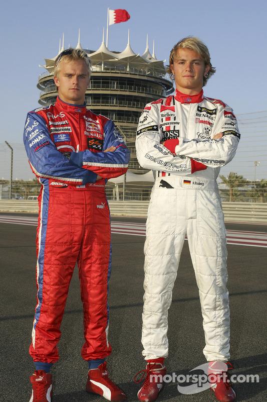 Sesión de fotos: Nico Rosberg y Heikki Kovalainen