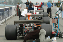 The grid in pit lane