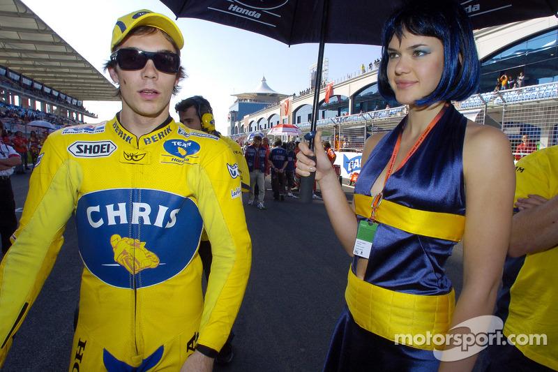 Chris Vermeulen on the starting grid