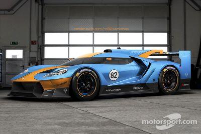 Ilustración del Ford GT Le Mans