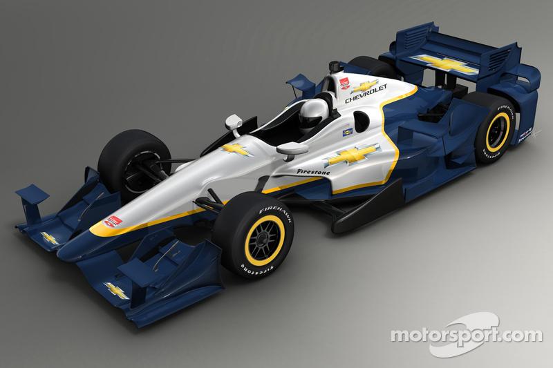 Zeichnung des Aerokits von Chevrolet für 2015