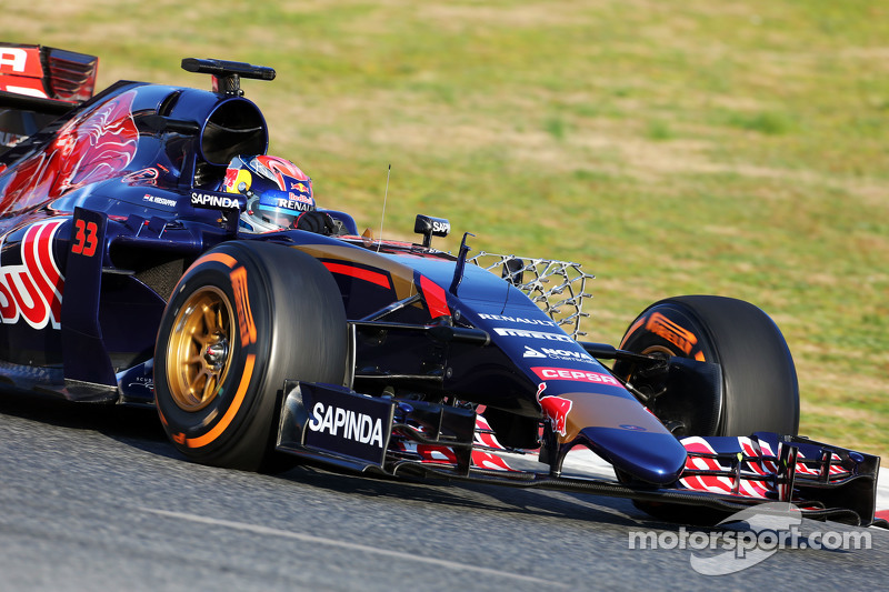 Макс Ферстаппен, Scuderia Toro Rosso STR10 працює з сенсорним обладнанням
