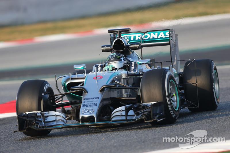 Ніко Росберг, Mercedes AMG F1 W06 працює з сенсорним обладнанням