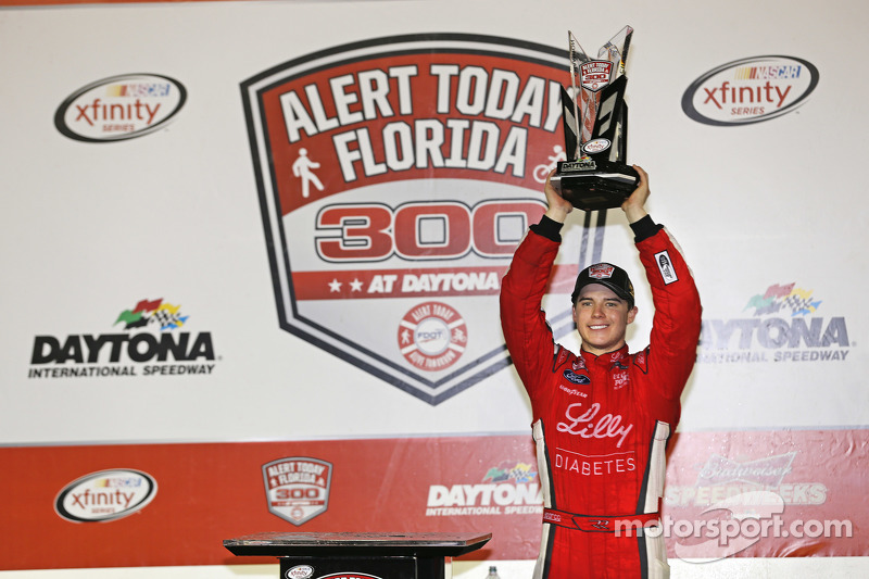 Race winner Ryan Reed, Roush Fenway Racing Ford celebrates