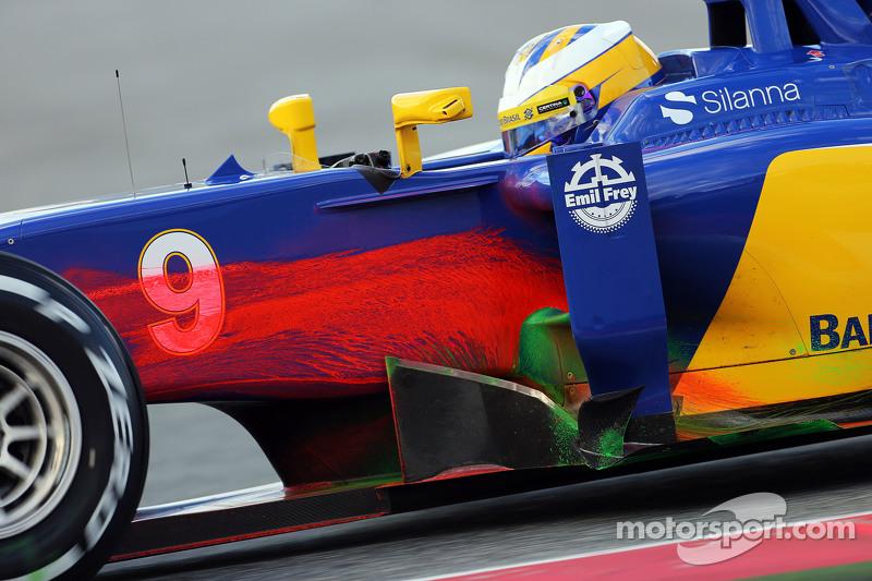 Marcus Ericsson, Sauber C34, fährt mit Flow-Viz-Farbe