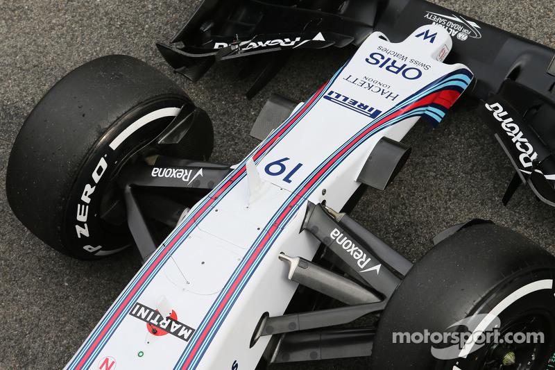 Williams FW37, Detail der Vorderradaufhängung