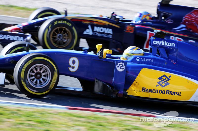Маркус Ерікссон, Sauber C34 та Карлос Сайнс мол., Scuderia Toro Rosso STR10
