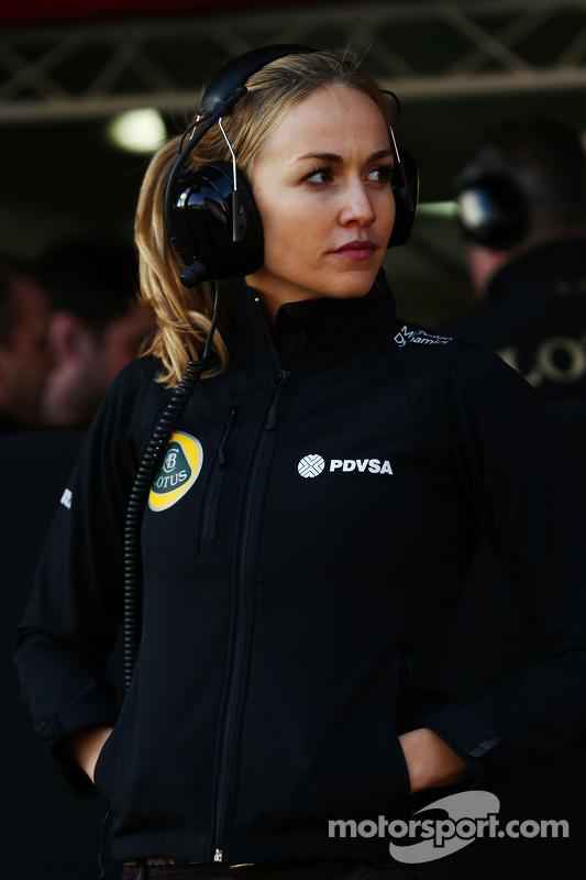 Carmen Jorda, piloto de desenvolvimento da equipe Lotus F1