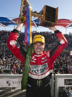 Race winner James Courtney, Holden Racing Team celebrates